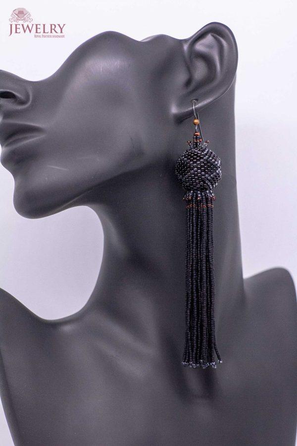 unique black earrings