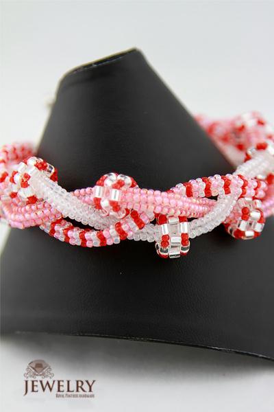 Blush beaded bracelet