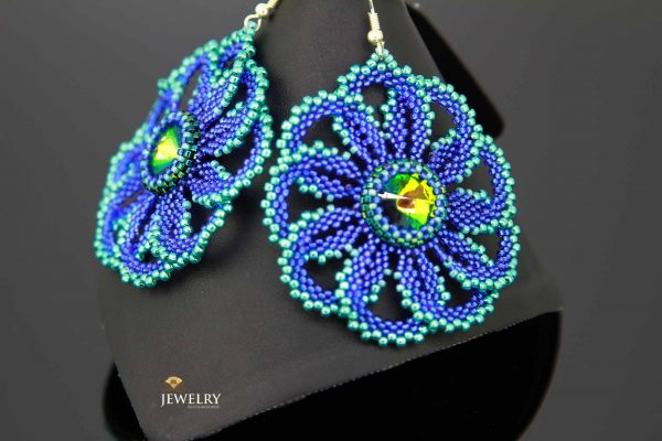 handcrafted lacy earrings