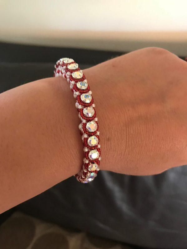 sparkly beaded bracelet
